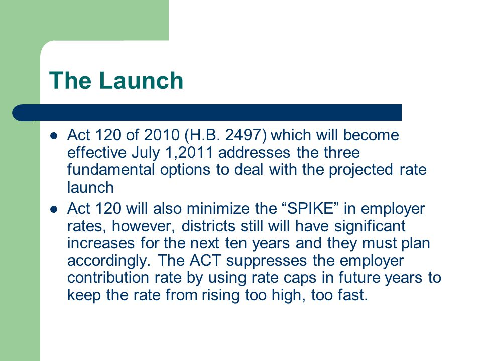 The Launch Act 120 of 2010 (H.B.