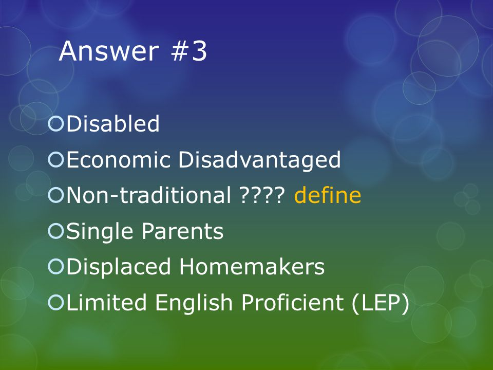 Question #9  Can promotional items be purchased with Perkins funds.