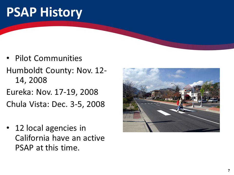 Pilot Communities Humboldt County: Nov. 12- 14, 2008 Eureka: Nov.