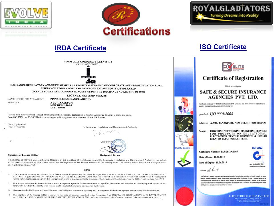 Certificate on MCA website with CIN U74899DL2001PTC109313 Certificate of Incorporation