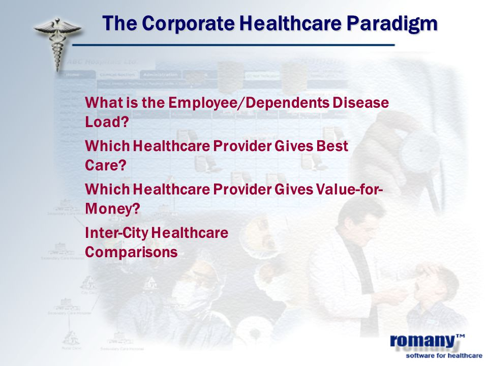 What is the Employee/Dependents Disease Load. Which Healthcare Provider Gives Best Care.