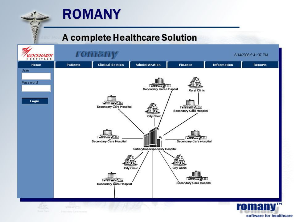 ROMANY A complete Healthcare Solution