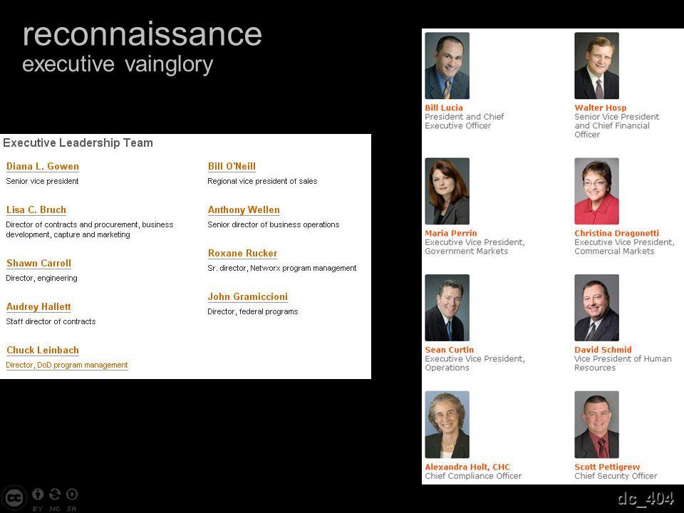 reconnaissance executive vainglory