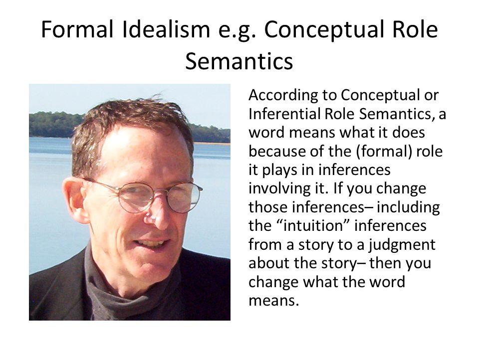 Formal Idealism e.g.