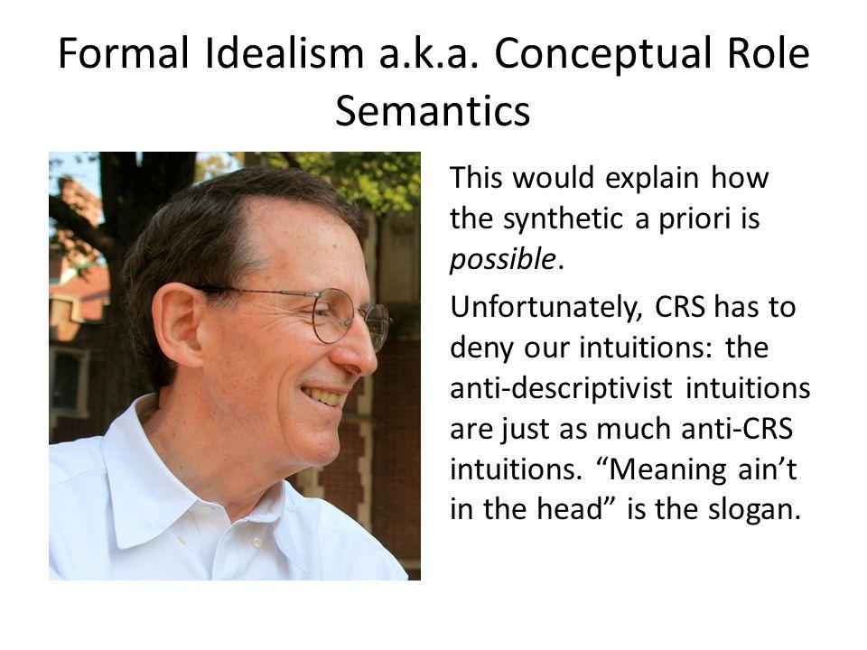 Formal Idealism a.k.a.