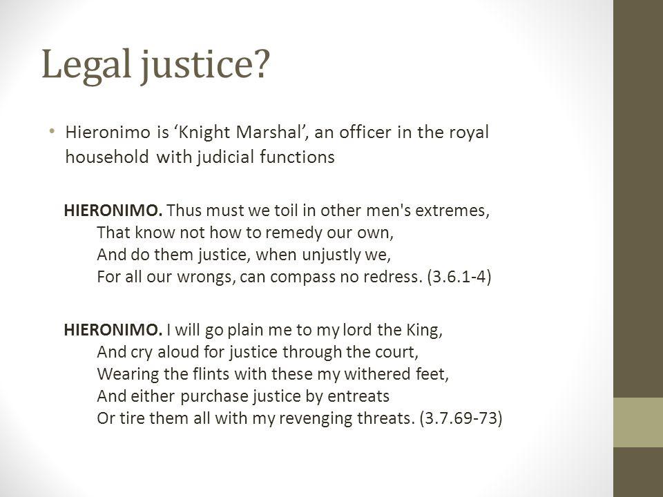 Legal justice.