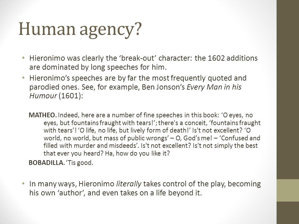 Human agency.