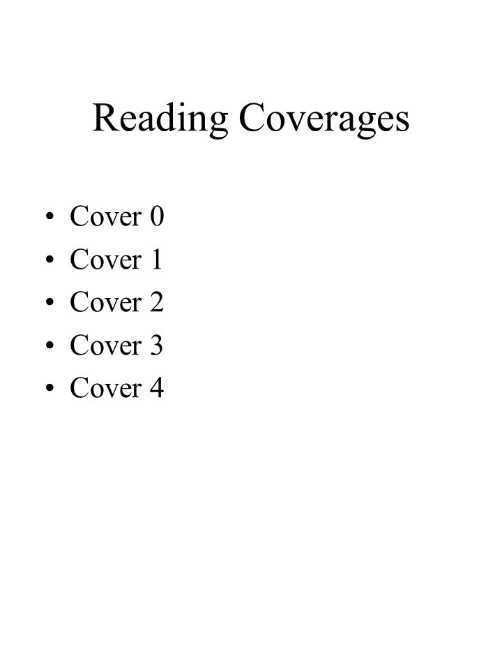 Reading Coverages Cover 0 Cover 1 Cover 2 Cover 3 Cover 4