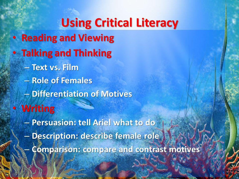 Using Critical Literacy Reading and Viewing Reading and Viewing Talking and Thinking Talking and Thinking – Text vs.