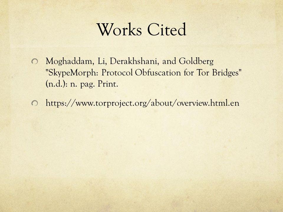 Works Cited Moghaddam, Li, Derakhshani, and Goldberg