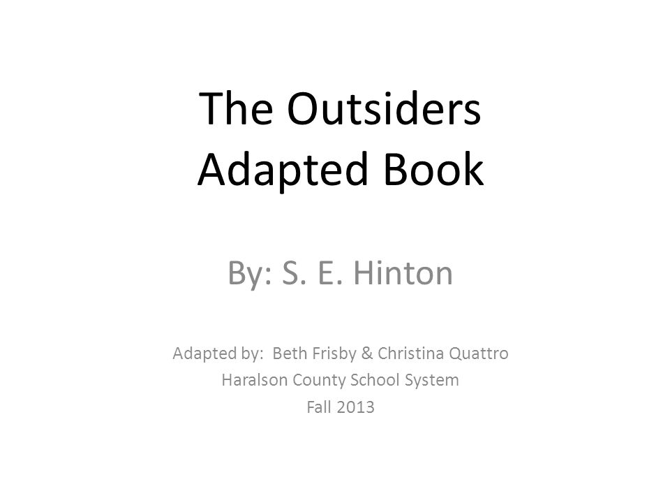 The Outsiders book report?