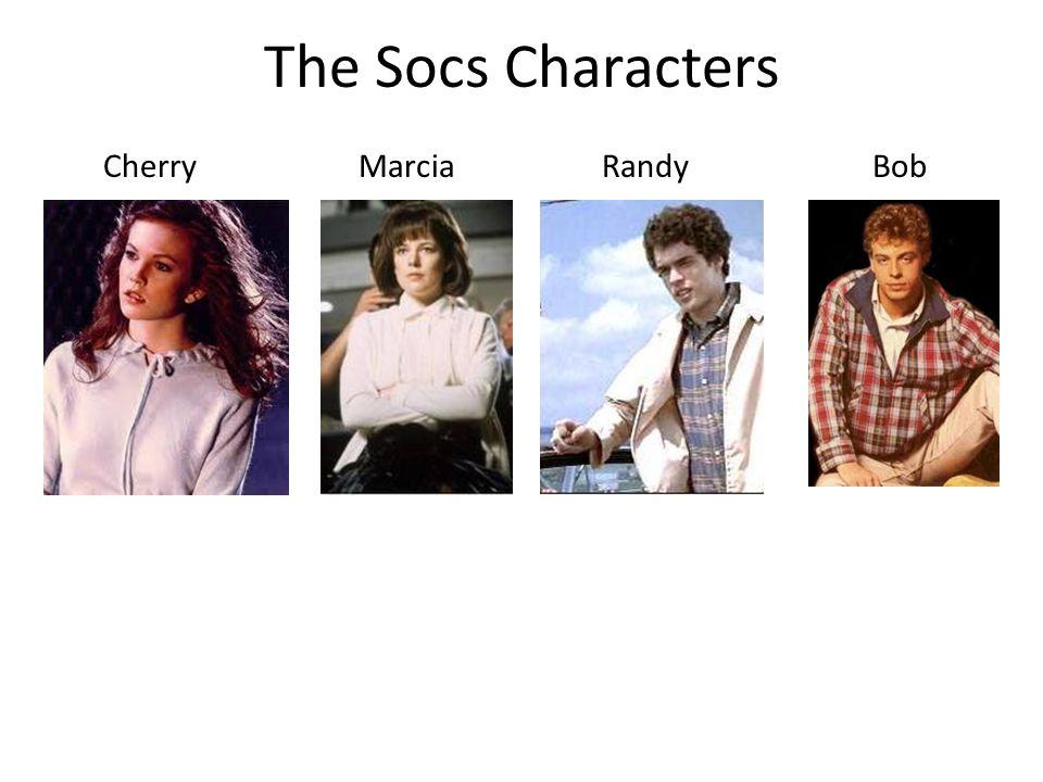 The Socs Characters Cherry MarciaRandy Bob