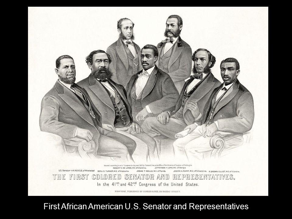 First African American U.S. Senator and Representatives