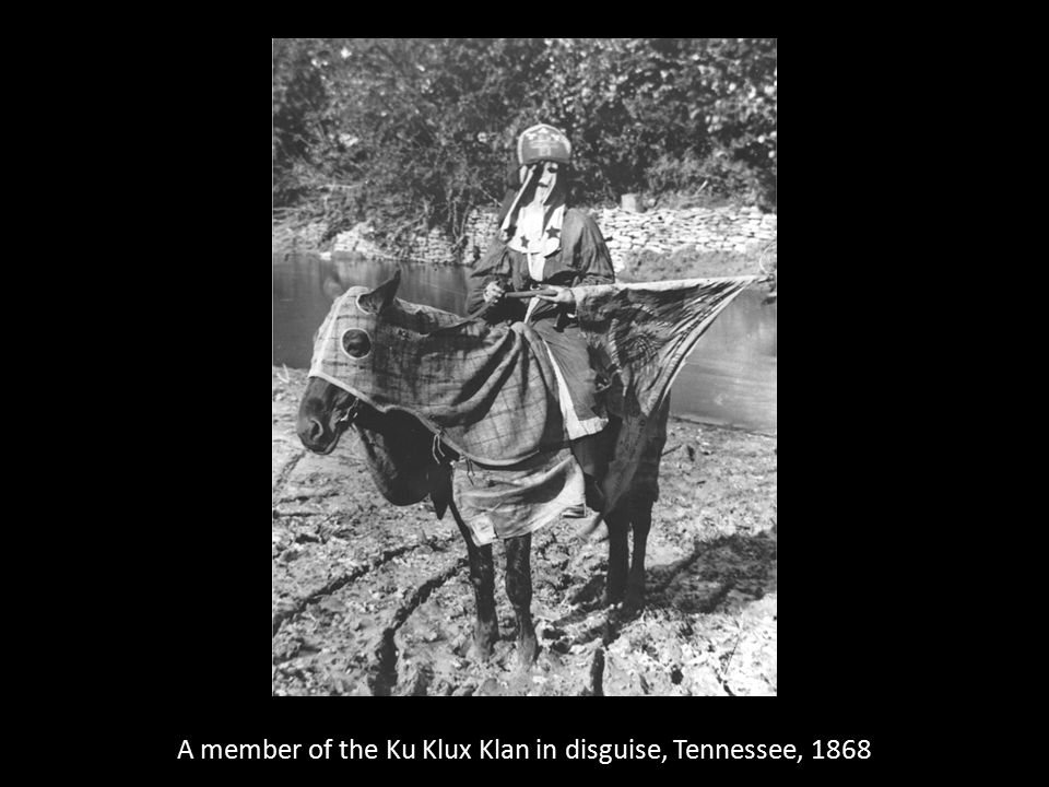 A member of the Ku Klux Klan in disguise, Tennessee, 1868