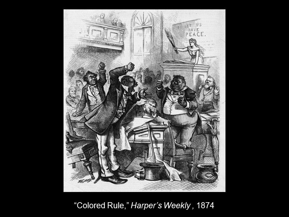 Colored Rule, Harper's Weekly, 1874