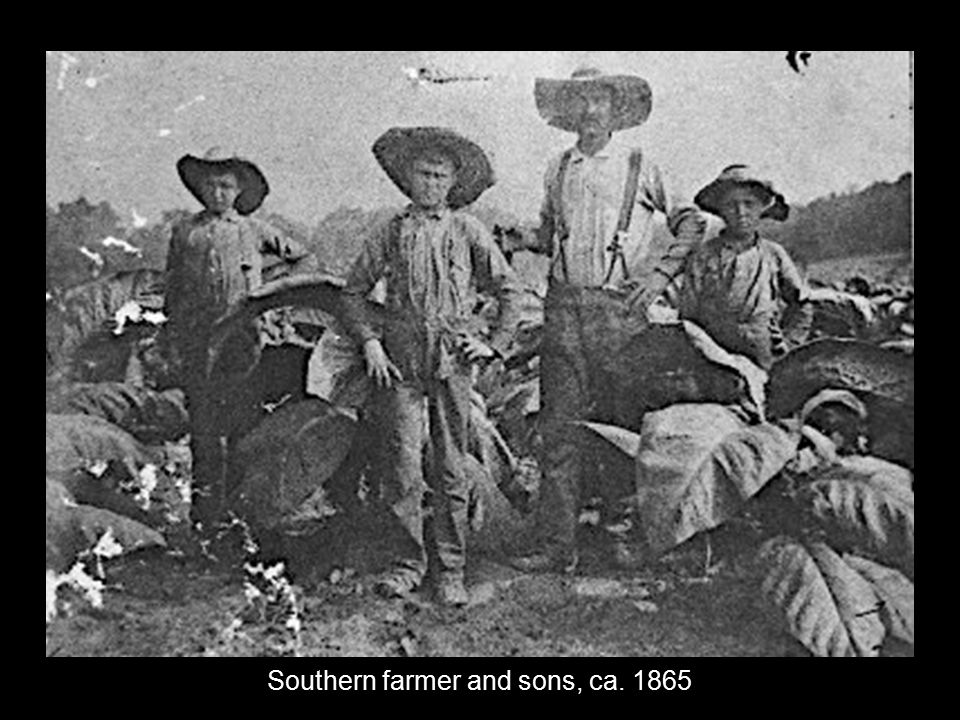Southern farmer and sons, ca. 1865