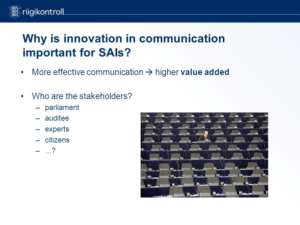Why is innovation in communication important for SAIs.