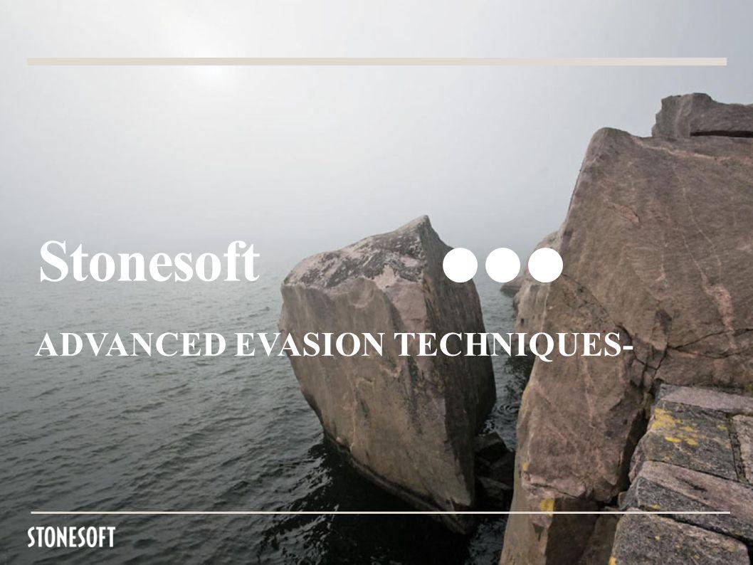 Stonesoft ADVANCED EVASION TECHNIQUES-