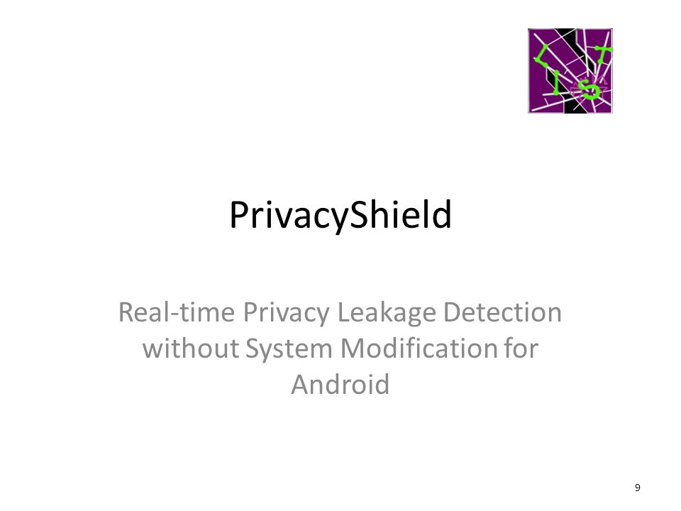 PrivacyShield Real-time Privacy Leakage Detection without System Modification for Android 9