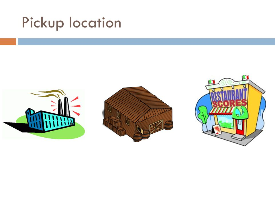 Pickup location