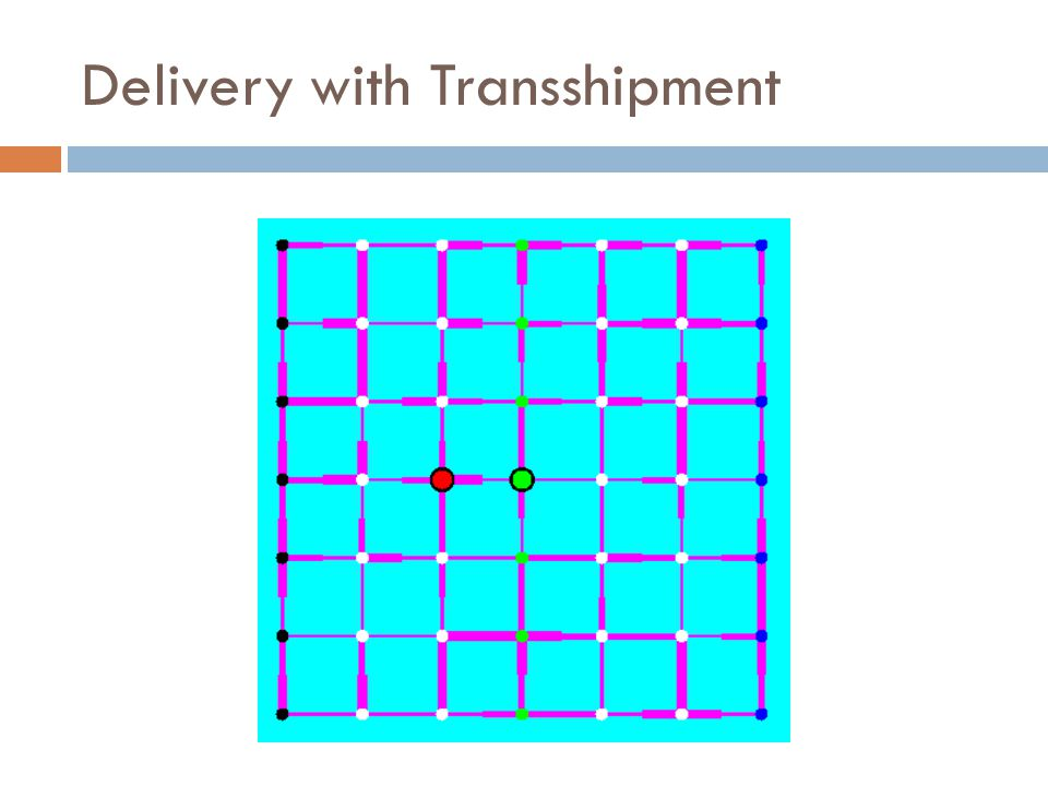 Delivery with Transshipment