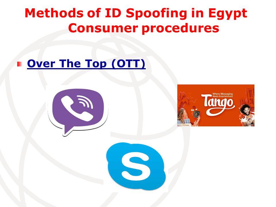 Methods of ID Spoofing in Egypt Consumer procedures Over The Top (OTT)