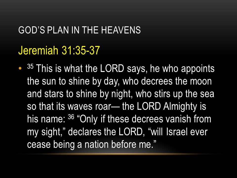 GOD'S PLAN IN THE HEAVENS This exploration of astrology was an attempt to peel back a layer of deceit - the possibility that the hunger to know the future from the stars is a left over of the desire to see the coming savior from them.
