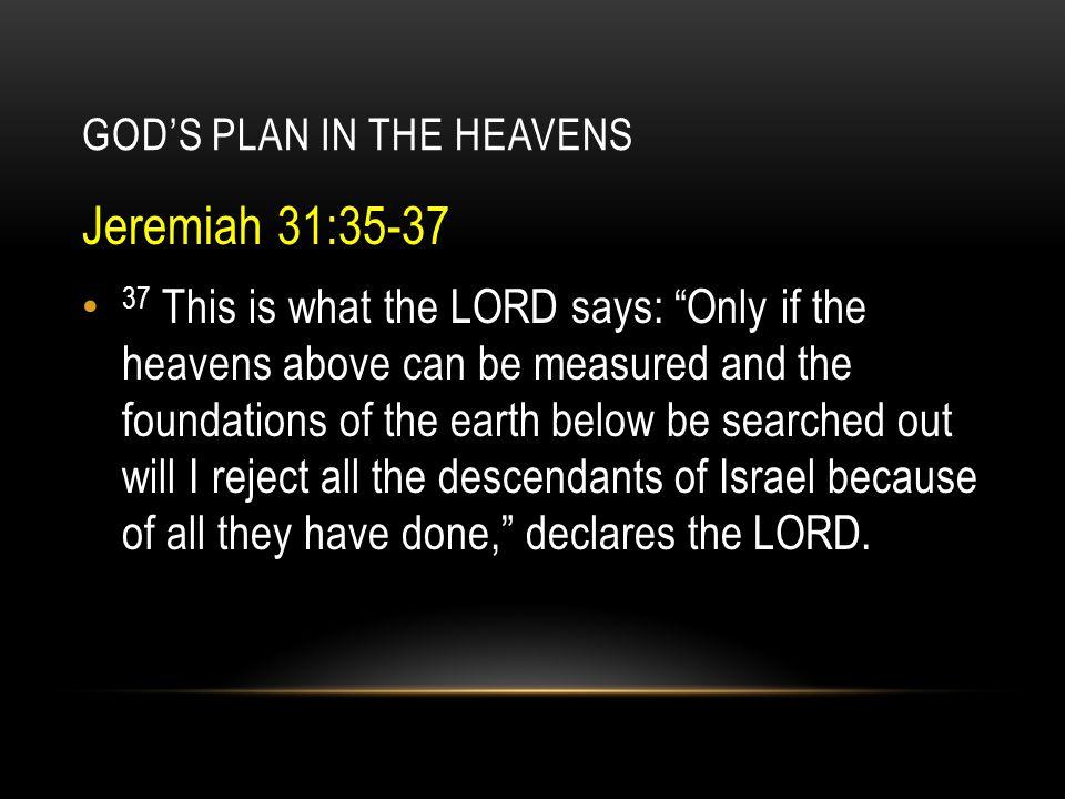 GOD'S PLAN IN THE HEAVENS