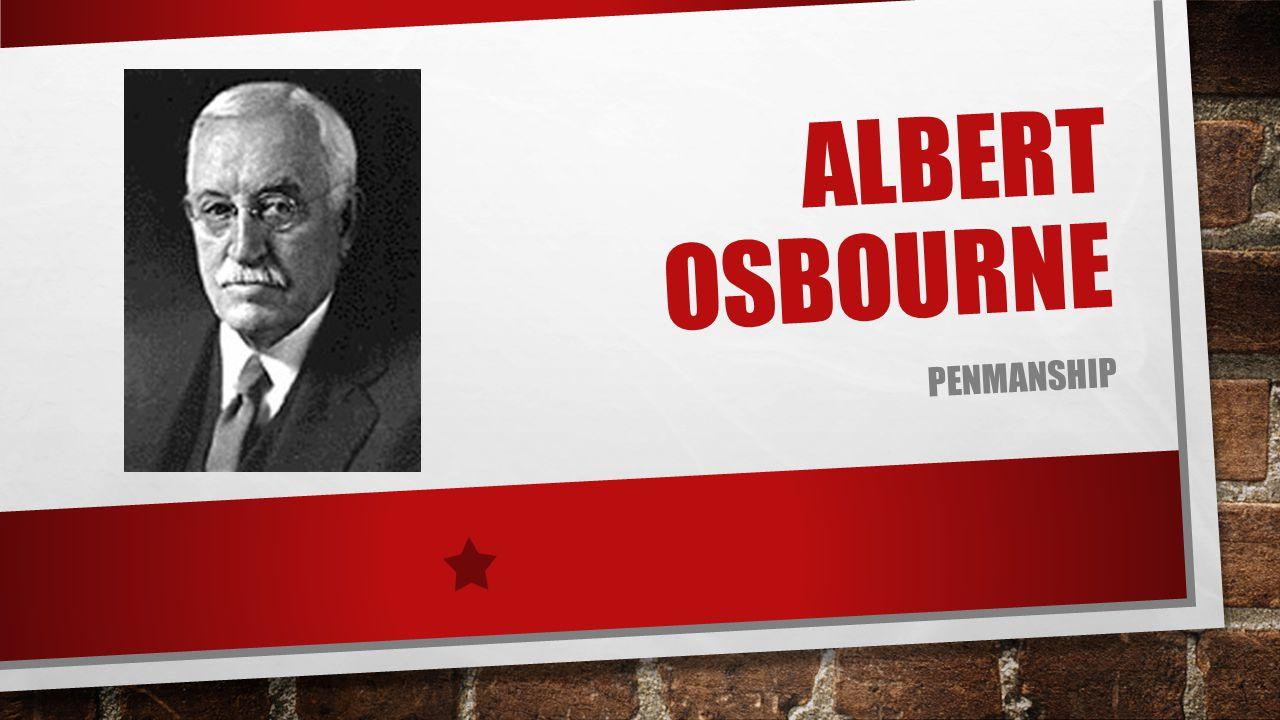 ALBERT OSBOURNE PENMANSHIP