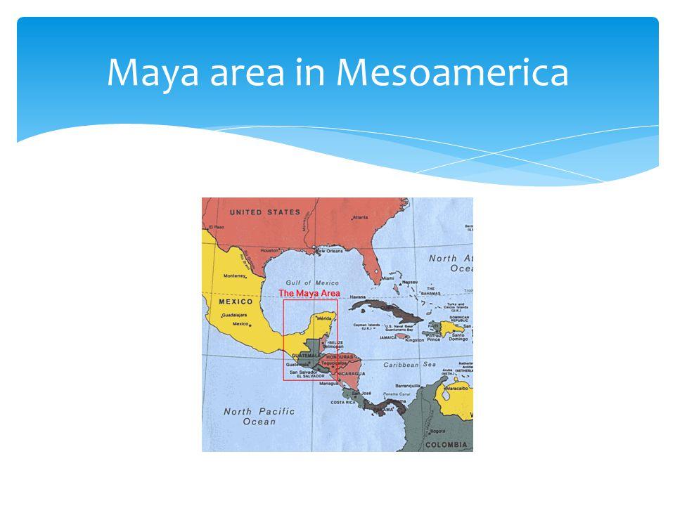 Maya area in Mesoamerica