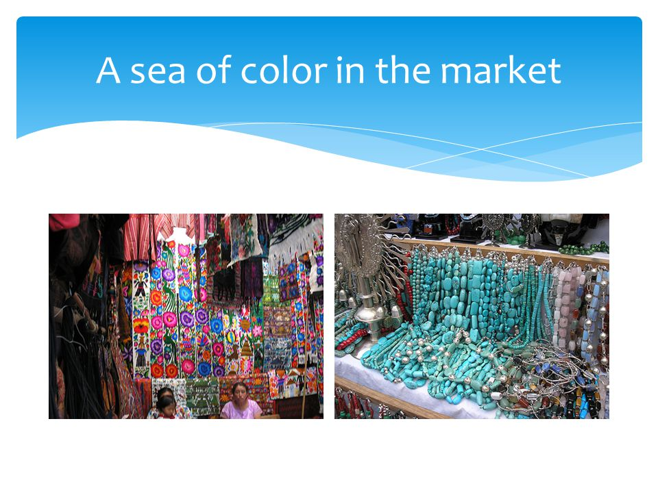 A sea of color in the market