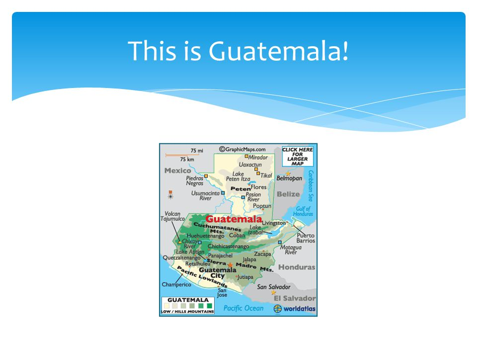 This is Guatemala!