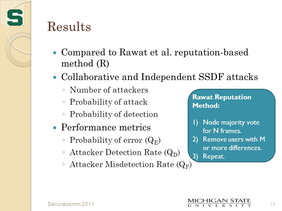 Results Compared to Rawat et al.