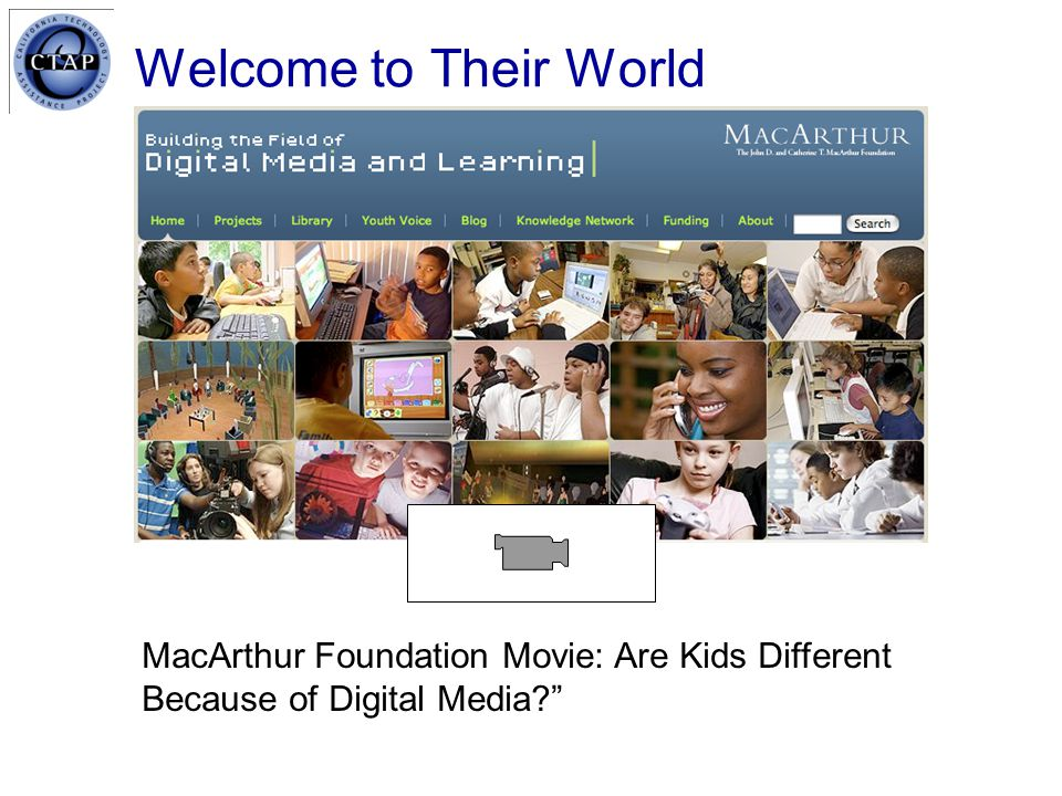 Welcome to Their World MacArthur Foundation Movie: Are Kids Different Because of Digital Media