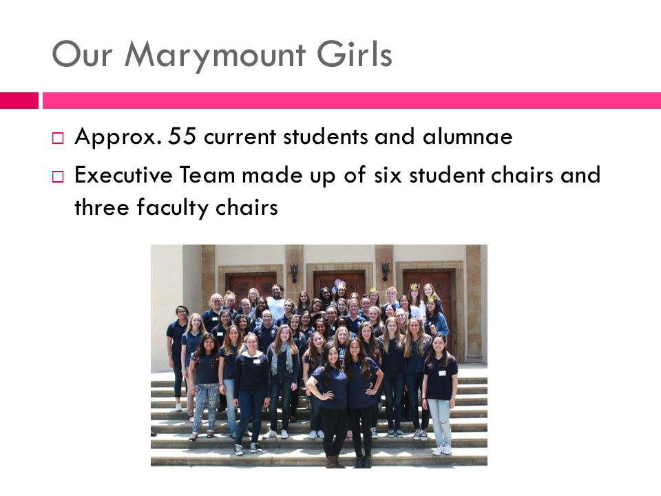 Our Marymount Girls  Approx.