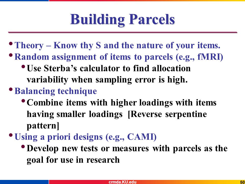 50 Building Parcels Theory – Know thy S and the nature of your items.
