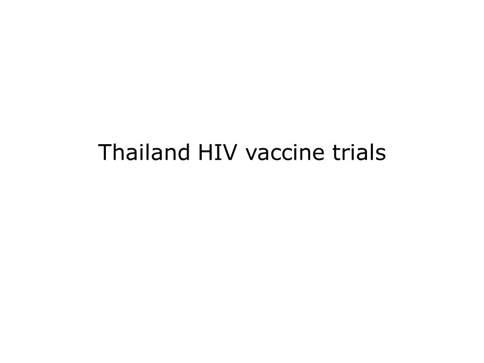 Thailand HIV vaccine trials