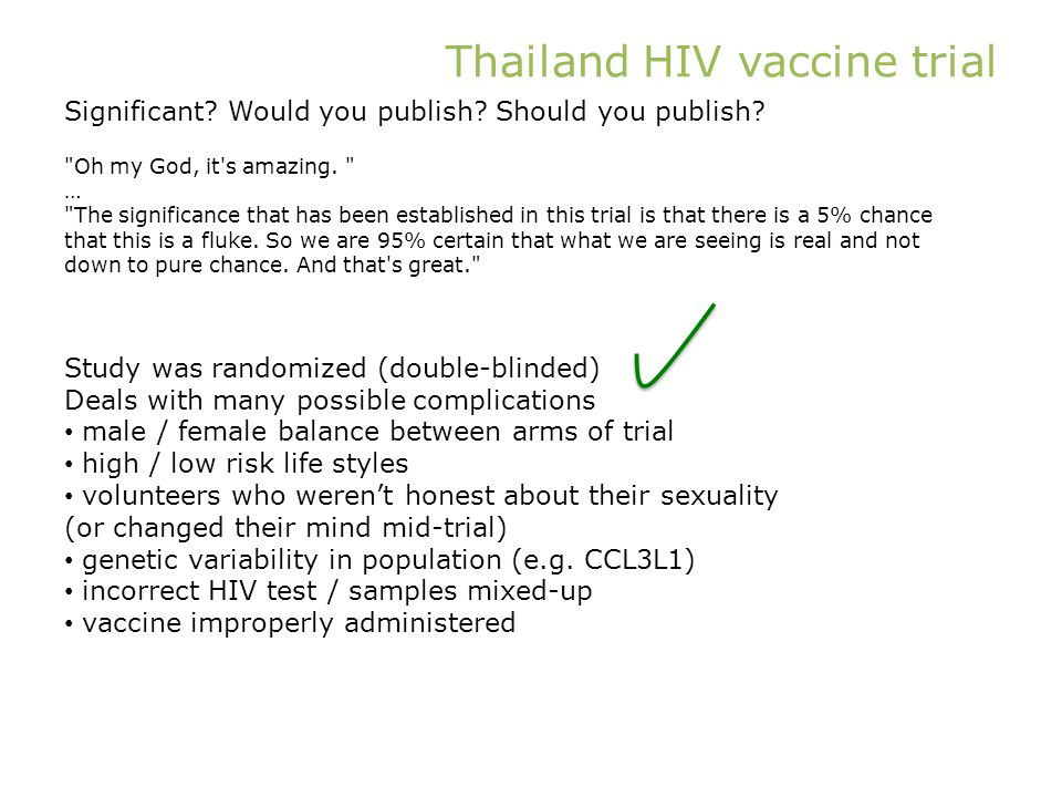 Thailand HIV vaccine trial Oh my God, it s amazing.
