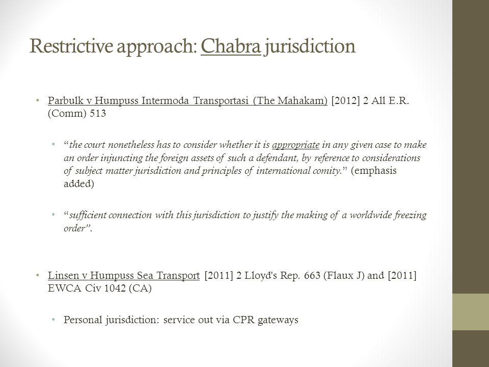 Parbulk v Humpuss Intermoda Transportasi (The Mahakam) [2012] 2 All E.R.