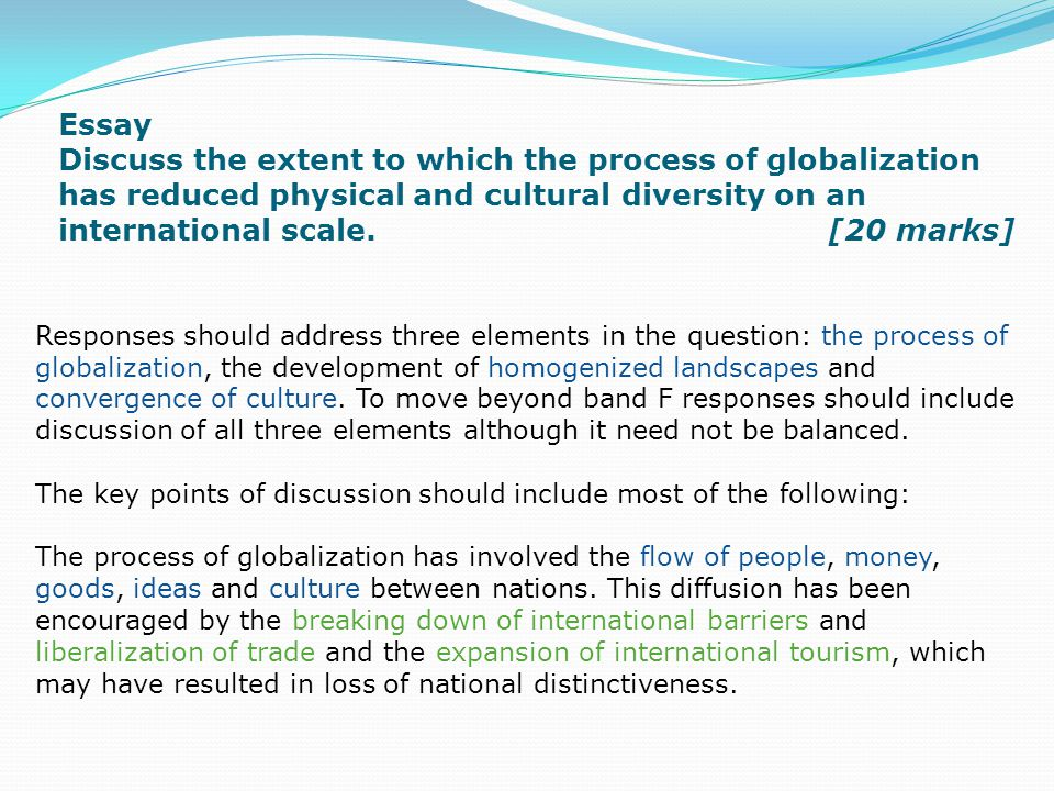 about globalization essay