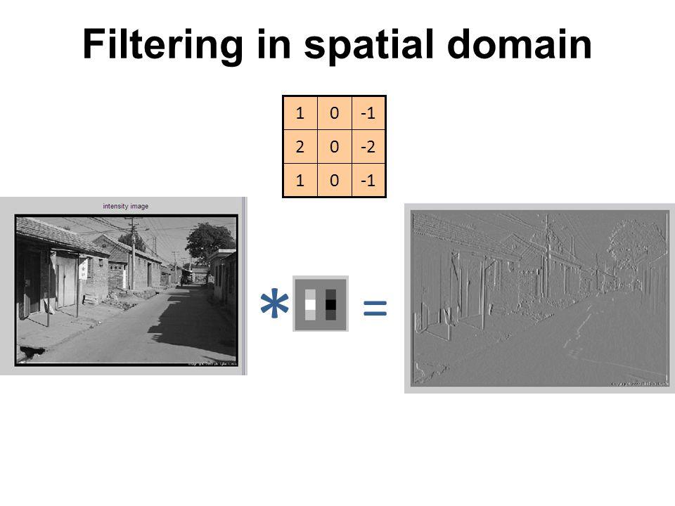 Filtering in spatial domain 01 -202 01 * =