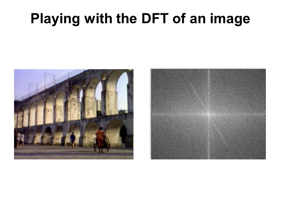 Playing with the DFT of an image