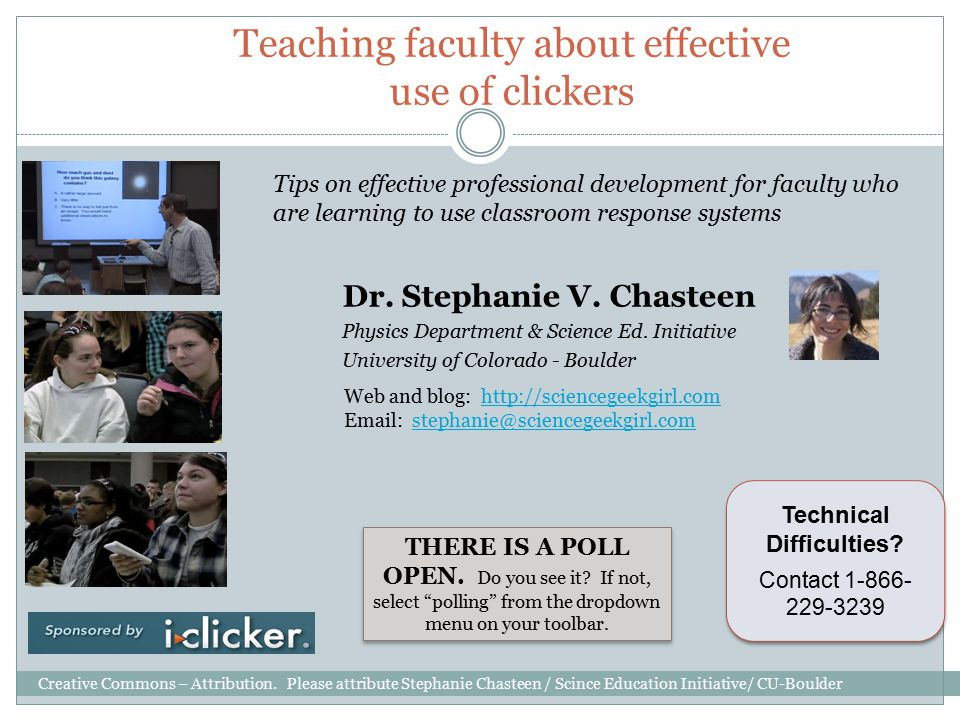 Teaching faculty about effective use of clickers Dr.