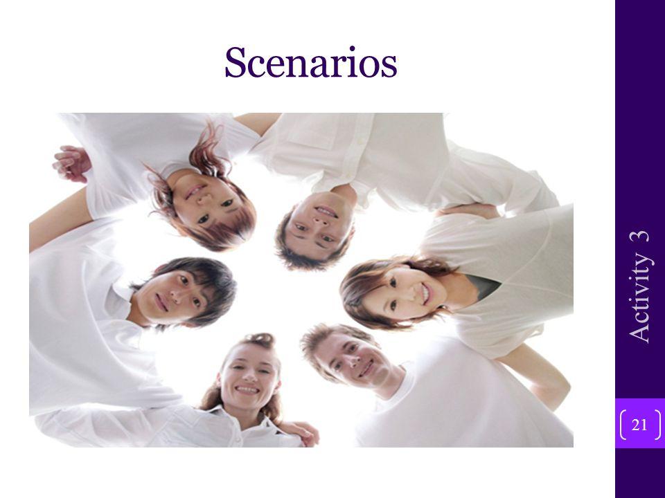 Scenarios 21 Activity 3