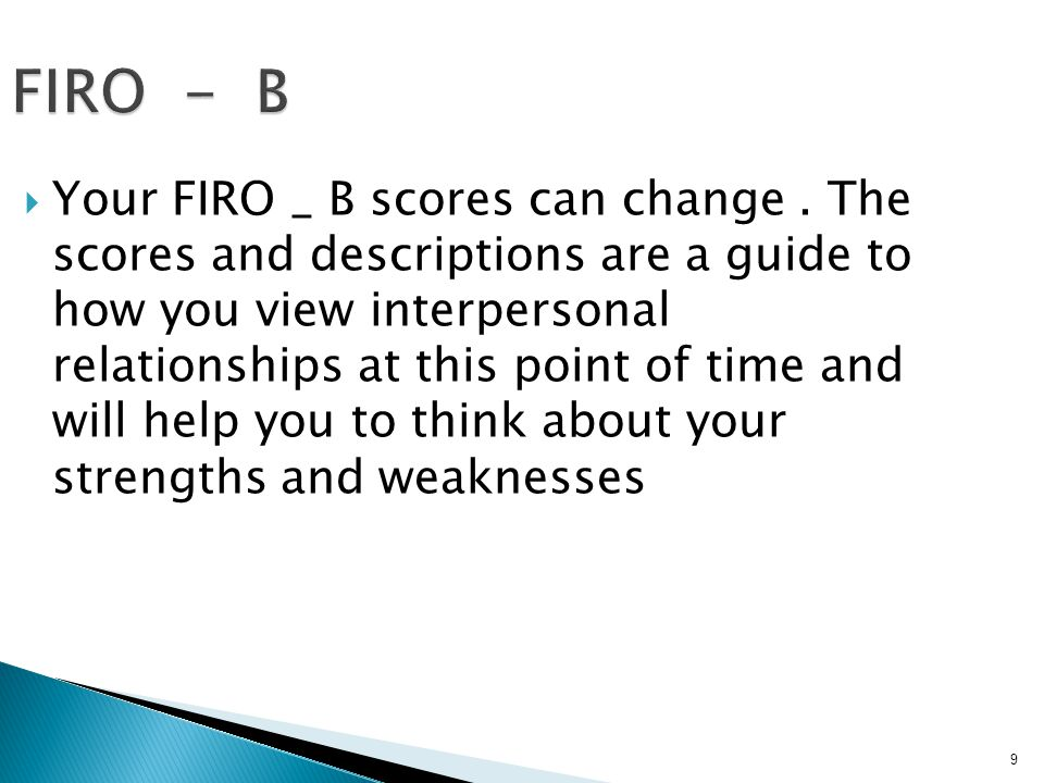 39 CHARACTERISTIC BEHAVIOR WHAT YOUR RESULTS INDICATE .