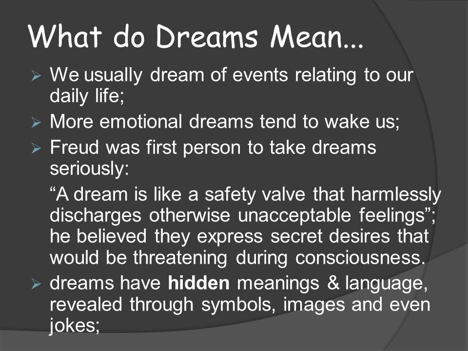 What do Dreams Mean...