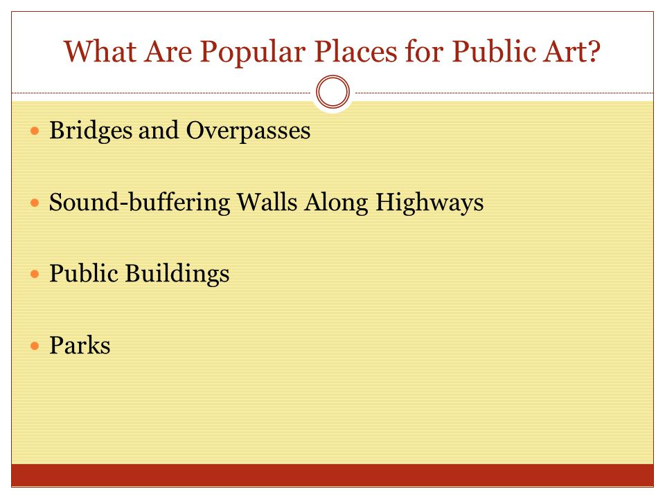 What Are Popular Places for Public Art.