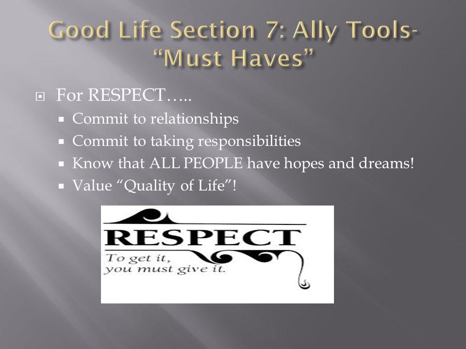  For RESPECT…..