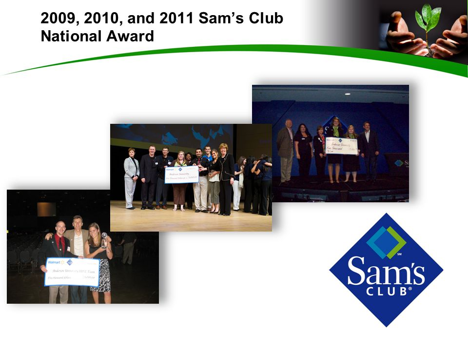 2009, 2010, and 2011 Sam's Club National Award