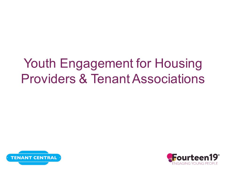Youth Engagement for Housing Providers & Tenant Associations